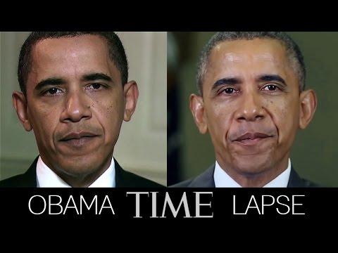 بالفيديو.. 30 ثانية تظهر تأثير الرئاسة على شكل أوباما فى 6 سنوات