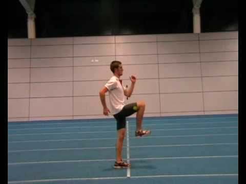 "Sprinting Drills to Improve Sprinting Technique Part 1.  Static ""A"" Drills"