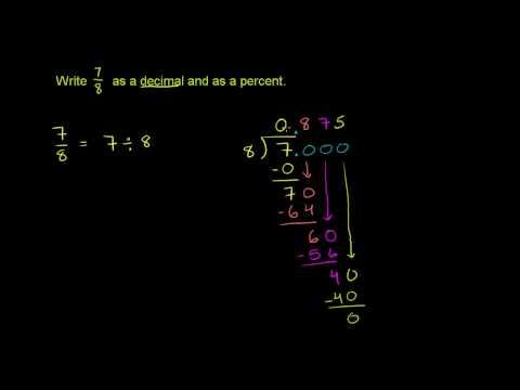 Rappresentare un Numero come Decimale, Percentuale e Frazione 2