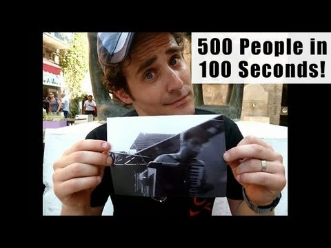 500 People in 100 Seconds!