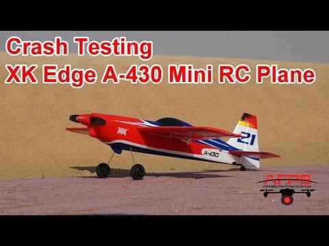 Crash testing the XK Mini Edge A-430 RC Airplane - UCsFctXdFnbeoKpLefdEloEQ
