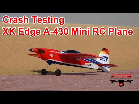 Crash testing the XK Mini Edge A-430 RC Airplane - default