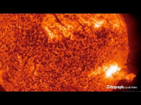 Nasa video: Spectacular solar flares filmed by Space Observatory Satellite