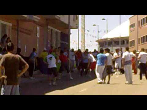 Fragmentos primer encierro por las calles de La Flecha 2009
