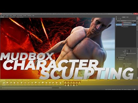 Mudbox BODY SCULPTING tutorial - Bodybuilder