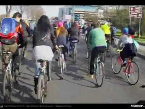 VIDEOCLIP Nu vrem piste pe trotuar! Protest biciclisti Bucuresti, 23 martie 2013