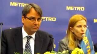 Жако Булен рассказал в Житомире о работе гипермаркета METRO