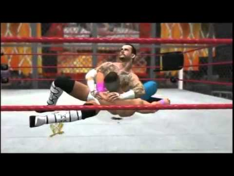 WWE '12 - CM Punk v. John Cena - Hell In A Cell 2012 - Highlights