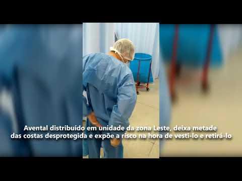 Profissionais da saúde recebem aventais que os expõe a risco na hora de vestir e retirá-lo