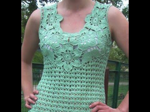 Gráficos para tejer Blusa Calada a Crochet - Favarit Video