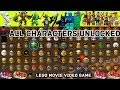 Lego Movie - All 97 Figures Unlocked - Sheriff Not a Robot, Vitruvius Ghost + (Wii U Video Game)