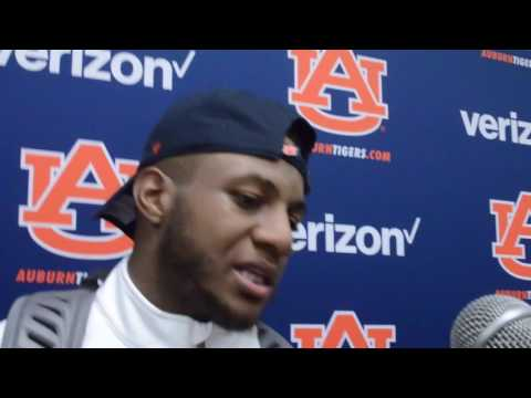 Auburn DB Josh Holsey gives a postgame interview following Auburn's 23-16 victory over Vanderbilt.