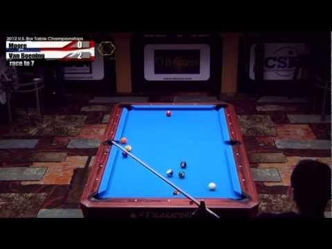 2012 CSI U.S. Bar Table Championships 10 Ball Division Finals: van Boening vs Moore Set 1