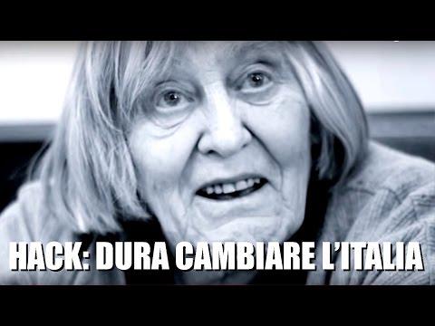 MARGHERITA HACK: DURA CAMBIARE L'ITALIA
