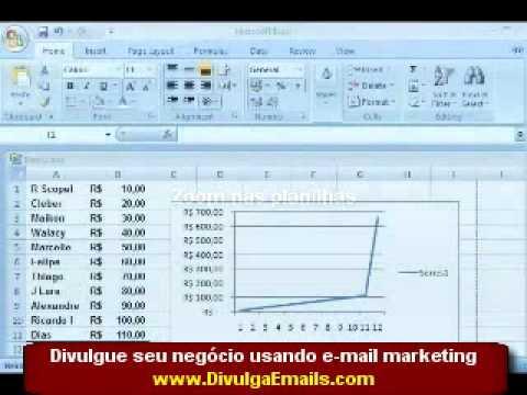 Video aula de Excel 2007  Curso excel (parte 2 de 4)