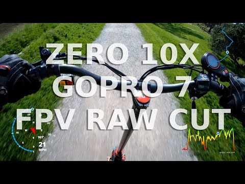 Zero 10X GoPro 7 Test Raw Footage - FPV on Gravel Path (Turbowheel Lightning)  4k60fps