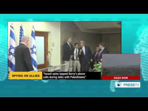 Israel (Spied) on  Kerry's phone calls during talks with palestinians  8/3/14