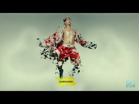 Photoshop Dispersion / Fractured / Splattered Effect Tutorial : Simplified