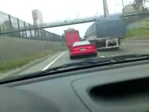 Dodge Viper Crashing a Van!!! CRASH!!! NEW VIPER CRASHED