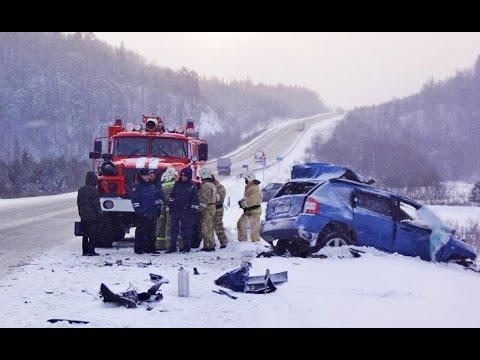 Зимние аварии на дорогах - январь 2015