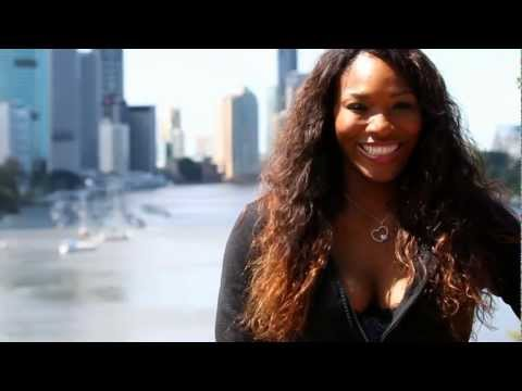 Serena Williams visits Kangaroo Point: Brisbane International 2012