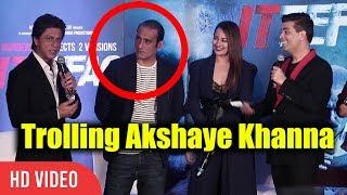 Shahrukh Khan And Karan Johar Trolling Akshay Khanna | Ittefaq Movie Press Conference