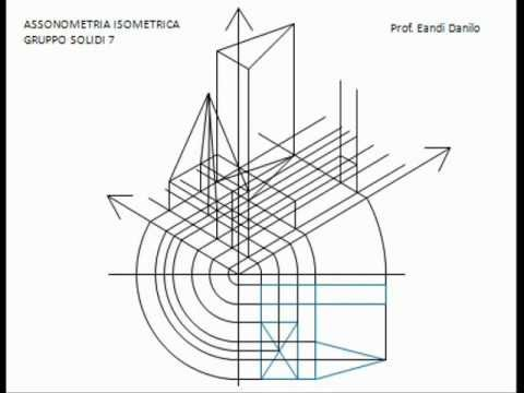 Assonometria isometrica gruppo solidi 7