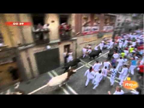 Sexto encierro de San Fermín 2011. 12-07-2011