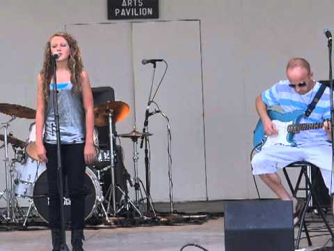 "Hailee Mooneyhan performs ""Strawberry Wine"" at Evolution Rock School's Summer Concert Cookout Bash"