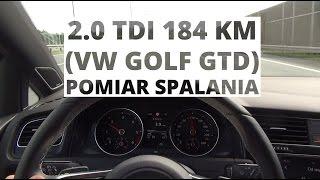 Volkswagen Golf GTD 2.0 TDI-CR 184 KM - pomiar spalania