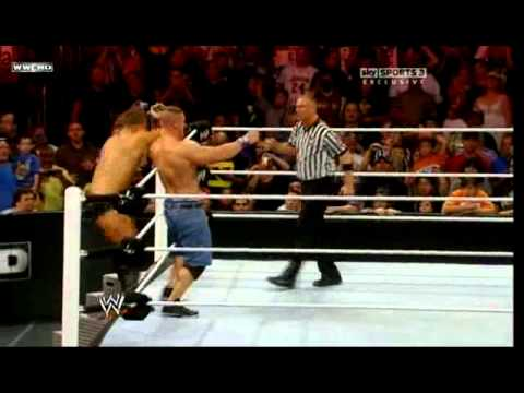 WWE RAW 23.8.2010 John Cena vs The Miz / Daniel Bryan interference Part 2