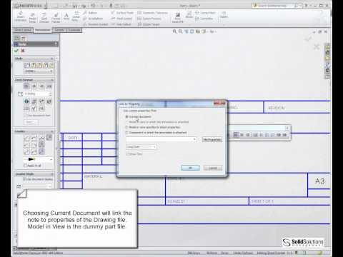Setting Up Intelligent Drawing Borders in SolidWorks