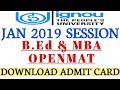 Hall Ticket Released for B.Ed and OPENMAT exam how to download By TIPS GURU