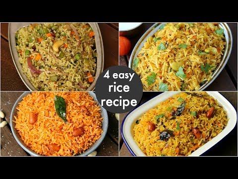 4 easy instant rice recipes - lunch box recipes & ideas | बच्चों की पसंदीदा लंच बॉक्स रेसिपीज