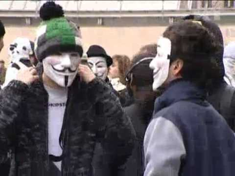 Anonymous group demonstrate in PARIS.mp4