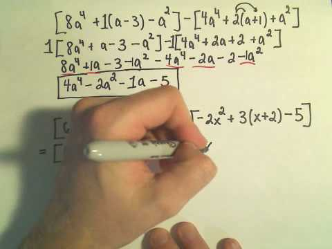 Polynomials: Adding, Subtracting, Multiplying and Simplifying - Example 2