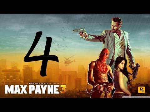 Max Payne 3 Walkthrough - Part 4 HD Hard Mode no commentary gameplay Chapter 3