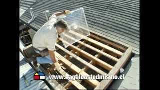 ¿Cómo instalar una cúpula acrilica en el techo?