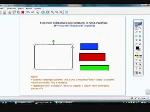 Primo principio di stratigrafia con la LIM. Orizzontalità
