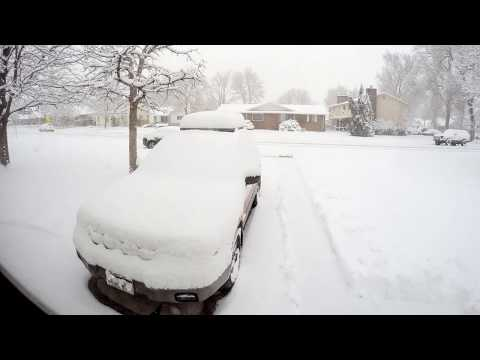 GoPro: 24 hour timelapse of a snow storm in Denver, Colorado