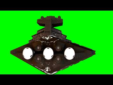 star wars Star Destroyer Imperial Ship 3D model  animation  s01r04 green screen