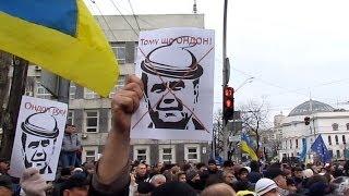 Революция в Киеве 1 декабря - шествие по бульвару Тараса Шевченко