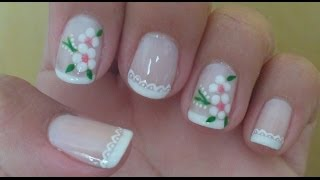 Youtube Diseno Para Unas Cortas Flores Y Animal Print Flower