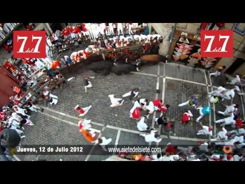Encierro San Fermin Pamplona 12 de Julio 2012   Victoriano del Río completo