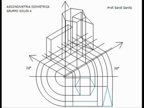 Assonometria isometrica gruppo solidi 4