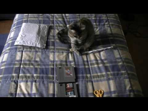 NES games unboxing
