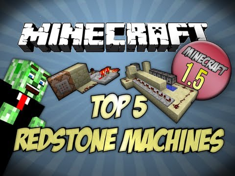 [1.5] Top 5 Minecraft Redstone Machines Minecraft