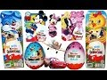 30 Surprise Eggs Kinder Surprise Cars Planes Minnie Mouse Mickey Mouse Barbie Frozen