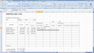 Tutorial Excel Nomina 2012