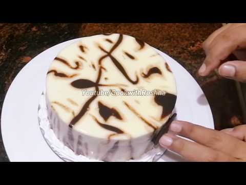 WHITE VANCHO BIRTHDAY CAKE ( 1/2kg ) recipe